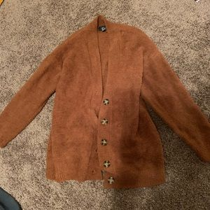 Forever 21 Fuzzy Brown Cardigan